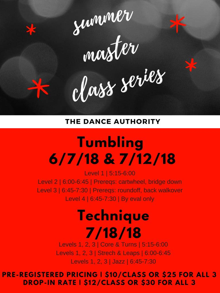 The Dance Authority Master Classes